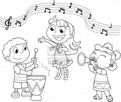 Singer clipart colouring Circle coloring images 137 of
