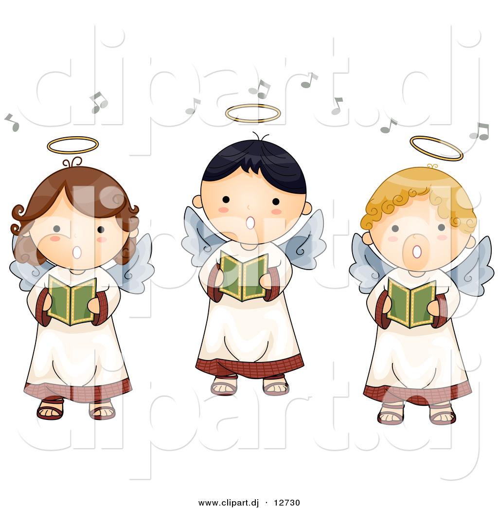 Singer clipart cute cartoon Clipart angels collection Vector Cartoon