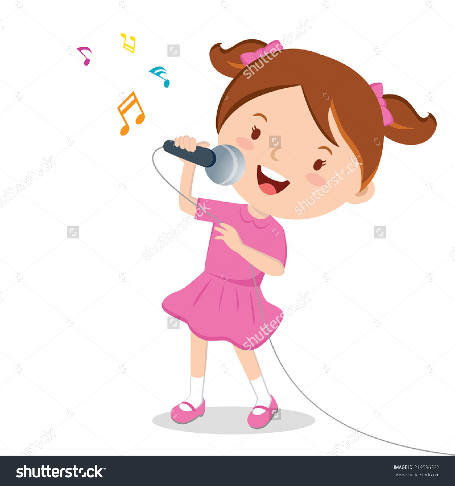 Singer clipart female singer A  clipart images Collection