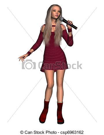 Singer clipart female singer Csp6963162 female Female Singer singer