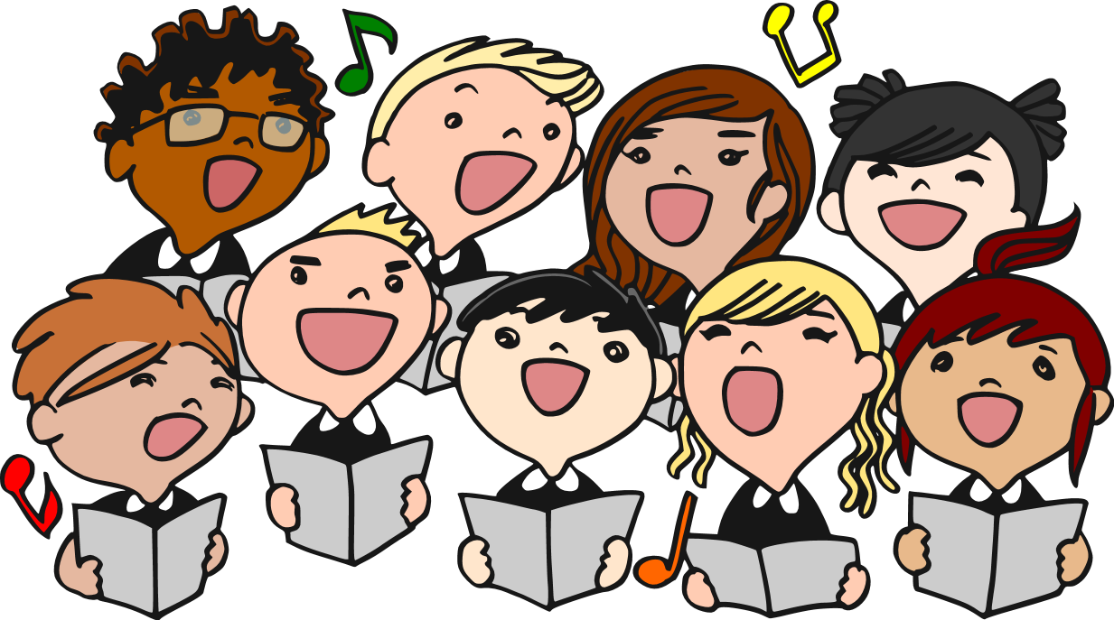 Singer clipart group singing – Art Download Group Art