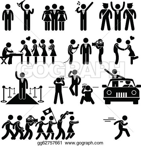 Crowd clipart pictogram Royalty Pictogram idol Star Celebrity