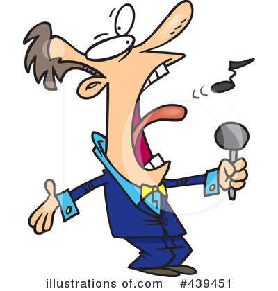 Singer clipart illustration (RF) by toonaday Singer Clipart