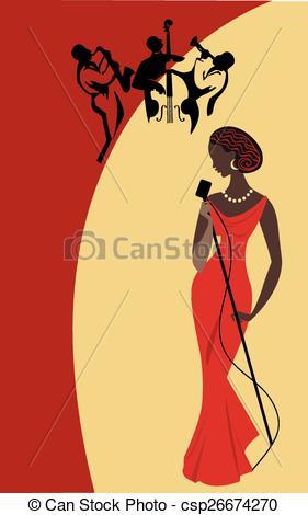 Singer clipart jazz singer Of jazz Female singer singer