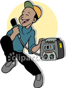 Singer clipart karaoke machine Clipart  Karaoke Singing Ameircan