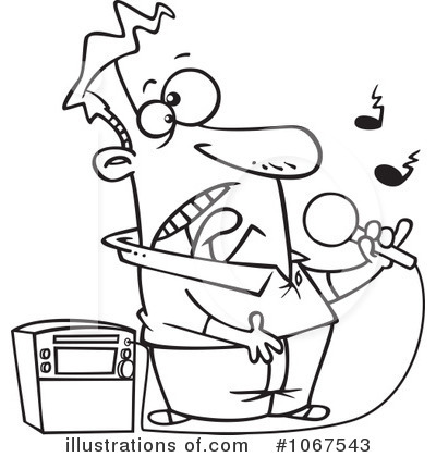 Singer clipart karaoke machine Clipart toonaday Illustration #1067543 by