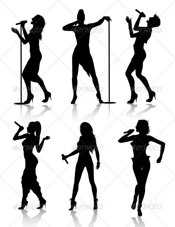 Celebrity clipart lady singer Female a singer of 1s