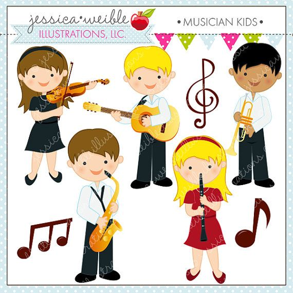Singer clipart cute cartoon Commercial 60 Use on Band