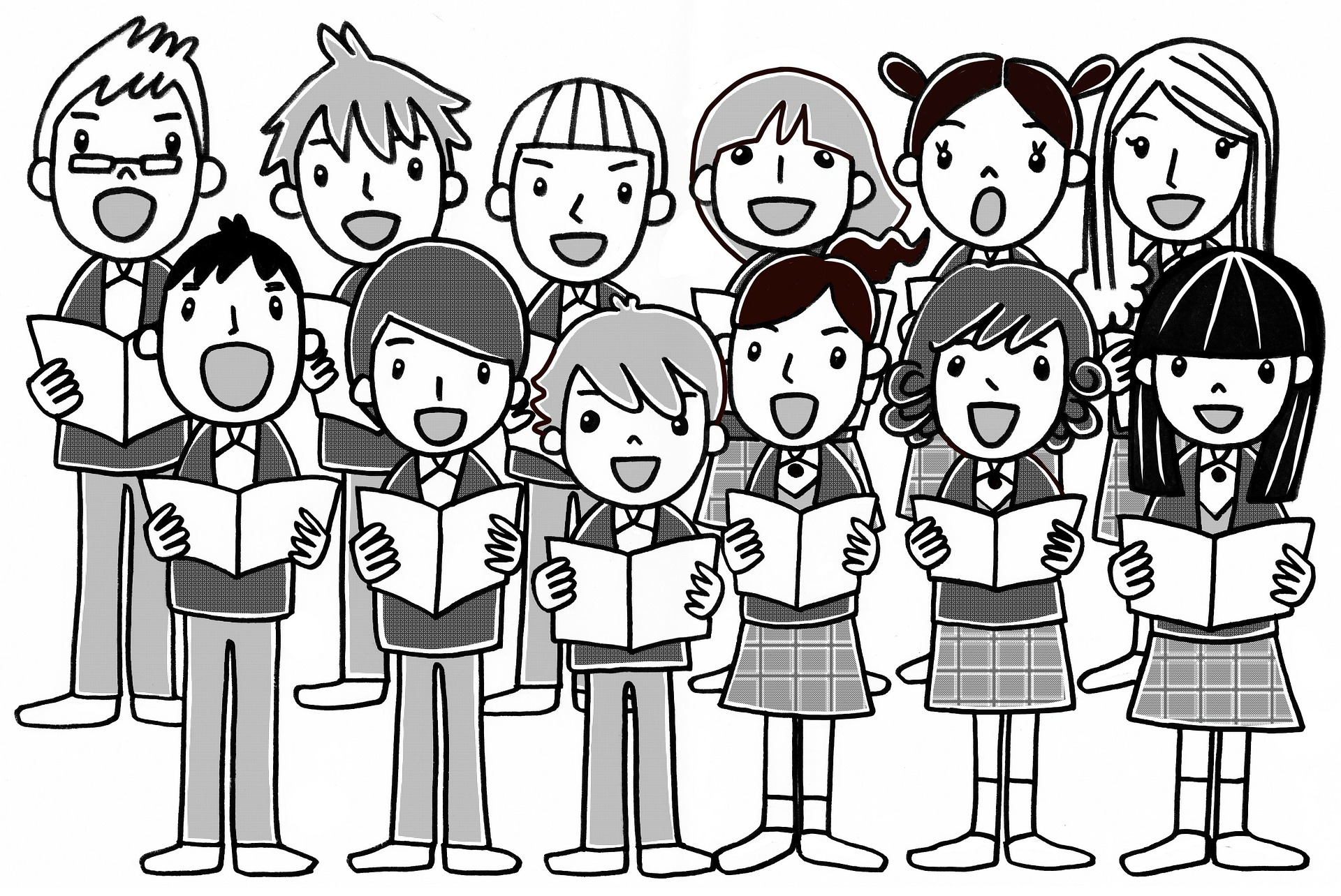 Singer clipart kid choir Teach children's to 5 concepts