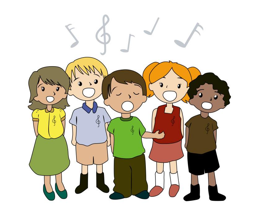 Singer clipart kid choir Choir boy singing Little Art