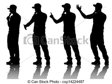 Singer clipart logo Vector Singer drawing musicians style