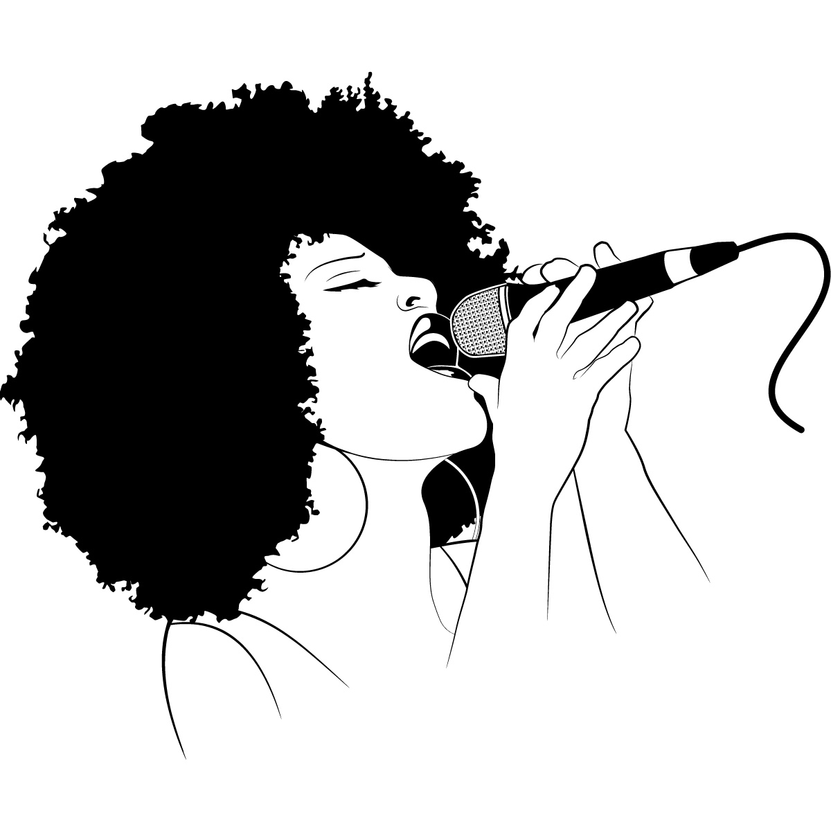 Singer clipart cute Singer China Silhouette Singer Silhouette