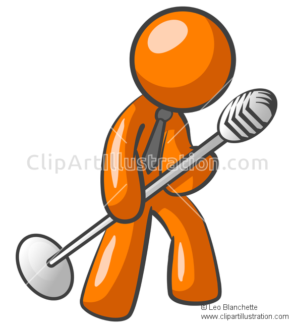 Singer clipart non A Circle ClipArt Illustration Large