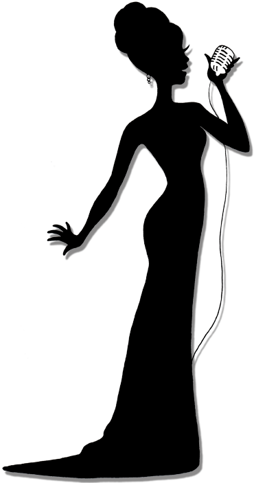 Celebrity clipart lady singer Female Silhouette Art Jazz 167086