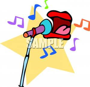 Singer clipart singing contest Clipart singing 202598  clipart
