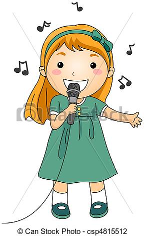 Singer clipart singing contest Clipart Music singer collection a