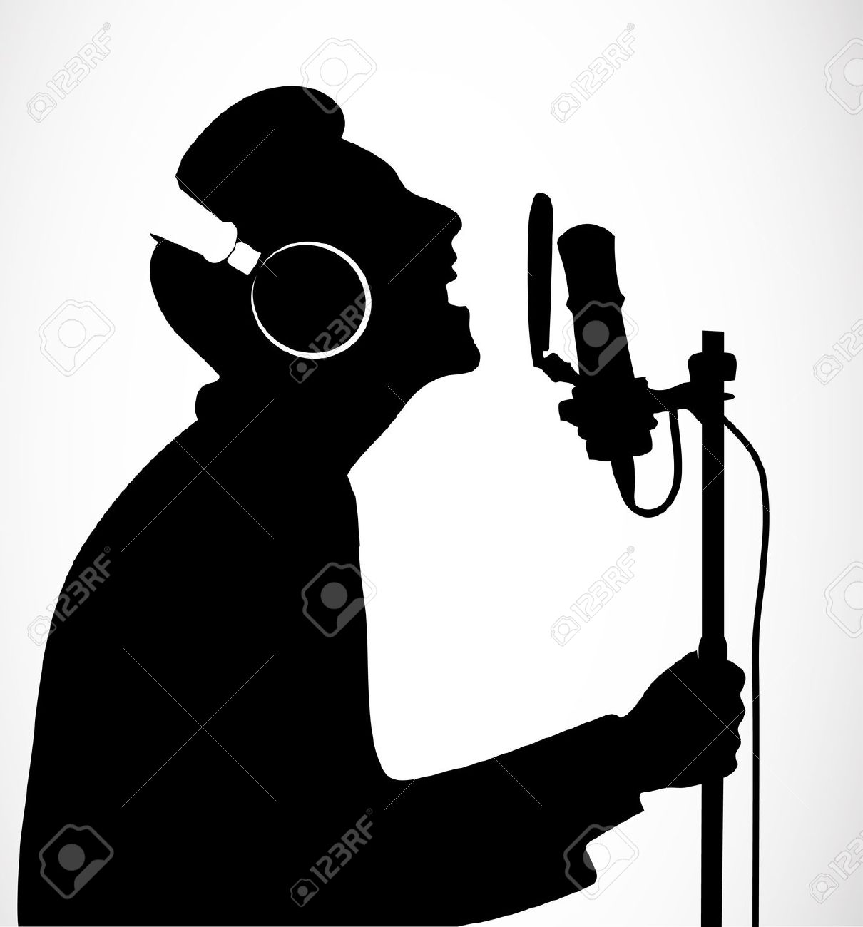 Microphone clipart solo singer Singer  clipart #girlsingingcolor_pw clipart