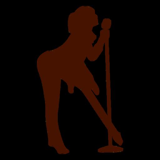 Singer clipart transparent Singer silhouette Female musician Transparent