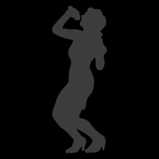 Singer clipart transparent Singer silhouette Female silhouette Transparent