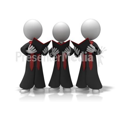 Singer clipart trio Presentation Choir Trio Choir Trio