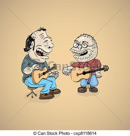 Singer clipart two Singer illustration folk illustration Illustration
