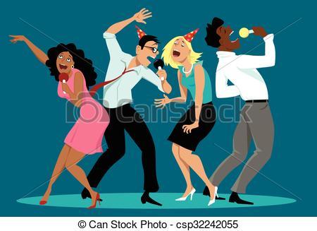 Singer clipart videoke Karaoke Illustrations 402  Karaoke