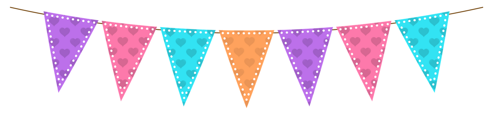 Single clipart bunting Morning clipart farewell Bunting Pink