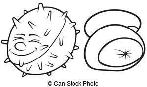 Single clipart conker Stock  Cartoon illustrations Vector