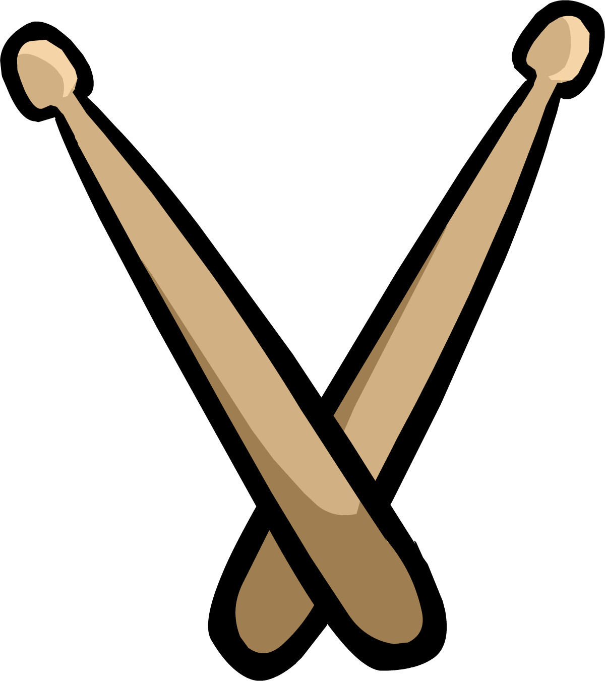 Musical clipart drumstick #2