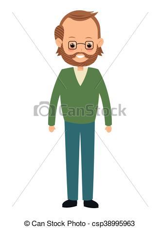 Single clipart single man Vector middle man flat man