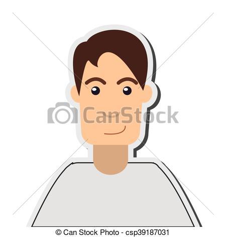 Single clipart single man Vector man Vectors  icon