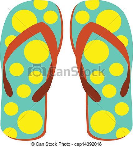 Sandal clipart slipper Vector of Art on Illustration