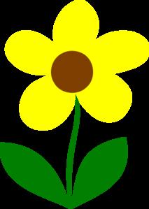 Single clipart yellow flower Clip online Flower art Yellow