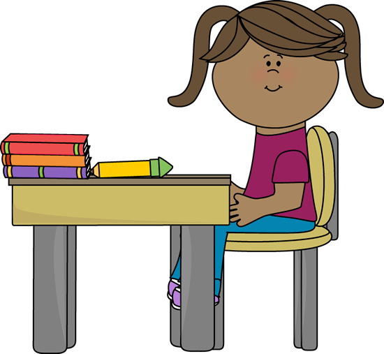 Furniture clipart classroom desk Sitting a  School School