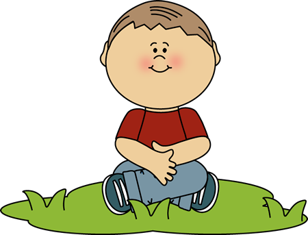 Sitting clipart Himself in Grass Sitting Clipart
