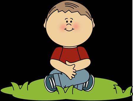Legs clipart criss cross Grass in boy Clipart sitting