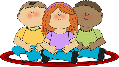 Carpet clipart preschool Clip Kids Sitting School Kids