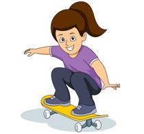 Skateboard clipart adolescent Size: Riding Male  Clipart