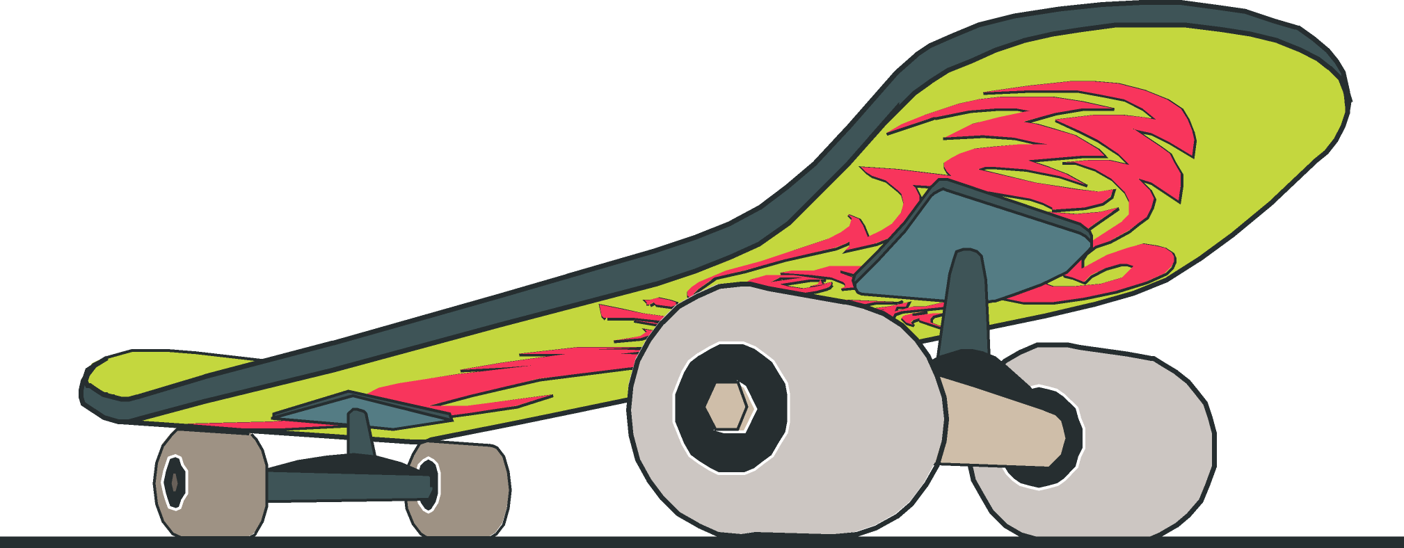 Skateboard clipart red Skateboard Clipart of Clipartix image