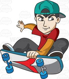 Skateboard clipart adolescent Exhibition Doing Teenager and Skateboard