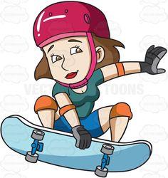 Skateboard clipart adolescent Skateboard girl teenage skateboard #