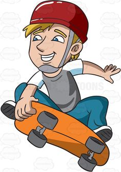 Skateboard clipart adolescent His Jumping Teenager Isolated boy