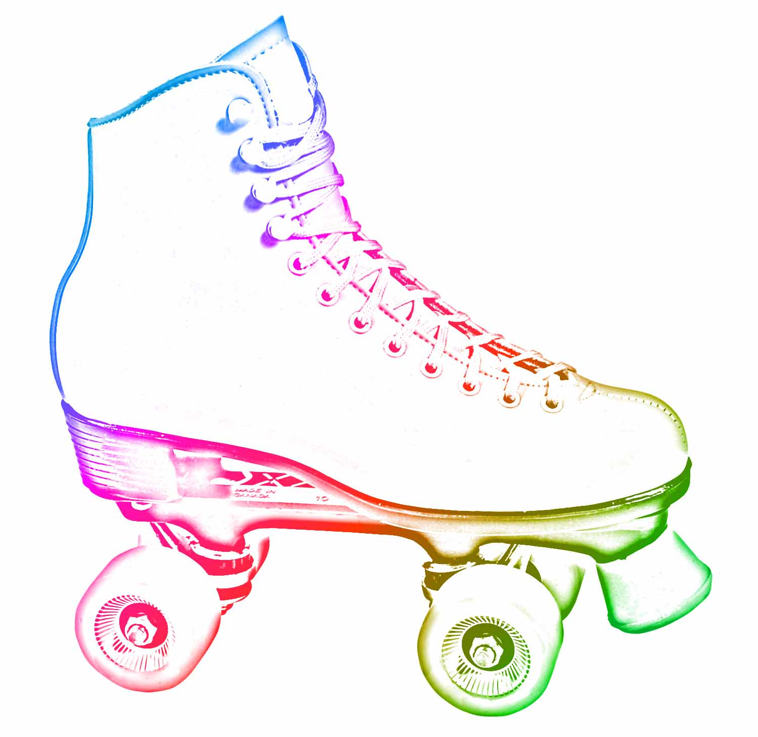 Red clipart roller skate #3