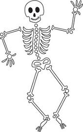 Sleleton clipart Free waving skeleton a clipart