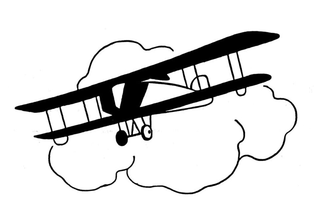 Aviation clipart black and white Clipart and Vintage Clip Airplane