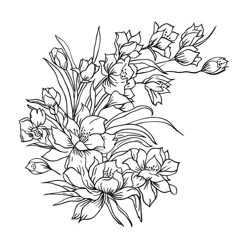 Bouquet clipart sketch Clip CLIPART  Art Sketch