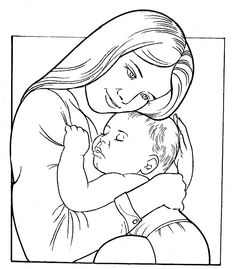 Sketch clipart baby · baby icon mother drawings
