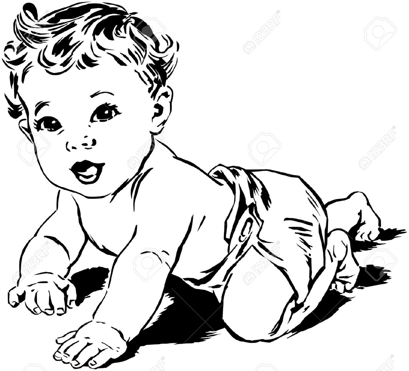 Sketch clipart baby Art and dinosaur Baby baby