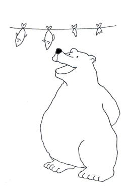 Drawn polar  bear fish cartoon Bear  Clip Polar of