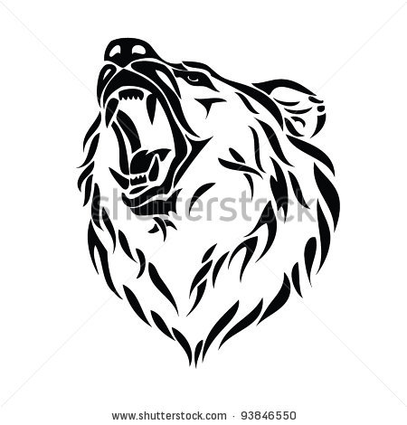 Drawn grizzly bear vector Clip bear  Clip –